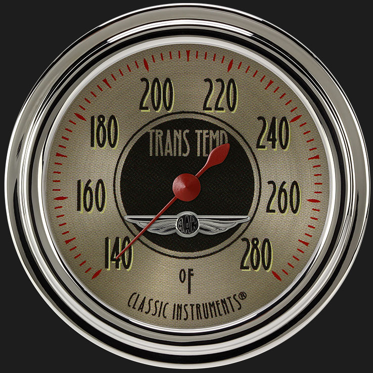 """Picture of All American Nickel 2 5/8"""" Transmission Temperature Gauge"""