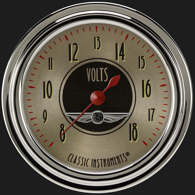 """Picture of All American Nickel 2 5/8"""" Voltage Gauge"""