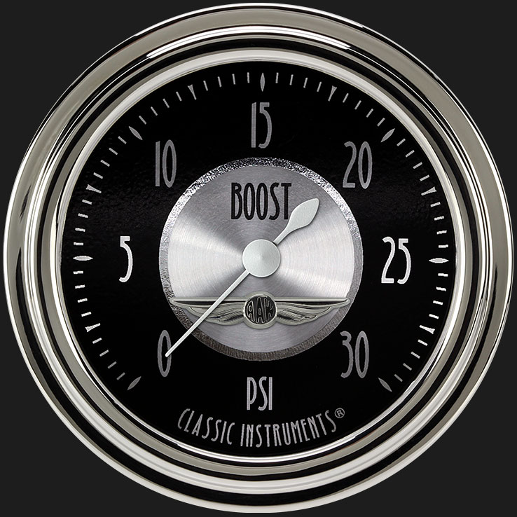 """Picture of All American Tradition 2 5/8"""" Boost Gauge, 30 psi"""