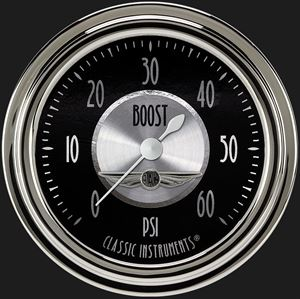 """Picture of All American Tradition 2 5/8"""" Boost Gauge, 60 psi"""