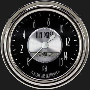 """Picture of All American Tradition 2 5/8"""" Fuel Pressure Gauge, 15 psi"""