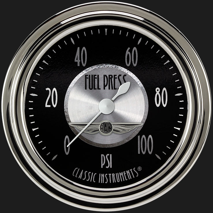 """Picture of All American Tradition 2 5/8"""" Fuel Pressure Gauge, 100 psi"""