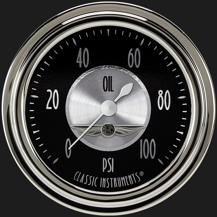 """Picture of All American Tradition 2 5/8"""" Oil Pressure Gauge"""