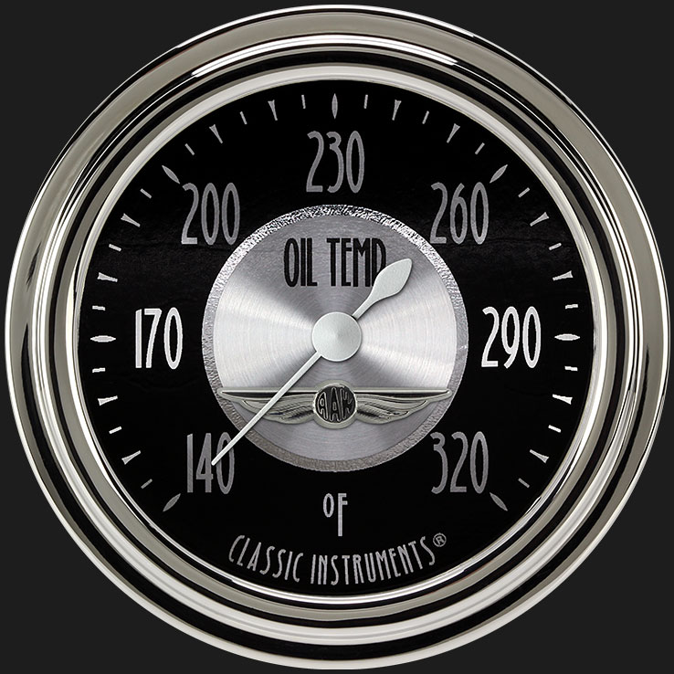 """Picture of All American Tradition 2 5/8"""" Oil Temperature Gauge"""