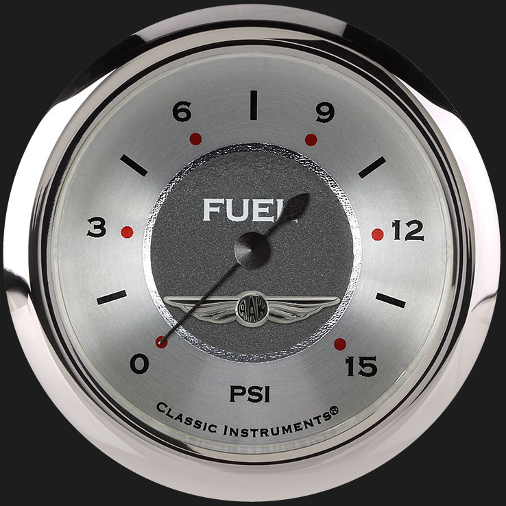 """Picture of All American 2 5/8"""" Fuel Pressure Gauge, 15 psi"""