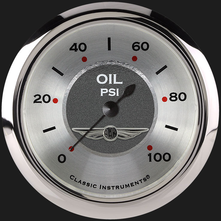 """Picture of All American 2 5/8"""" Oil Pressure Gauge"""