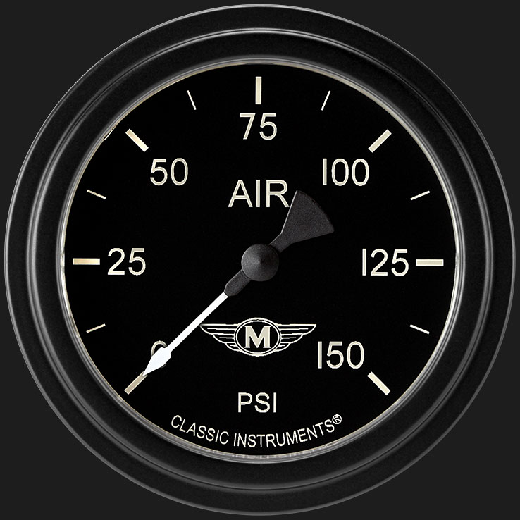 """Picture of Moal Bomber 2 5/8"""" Air Pressure Gauge"""