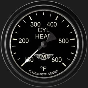 """Picture of Moal Bomber 2 5/8"""" Cylinder Head Temp. Gauge"""