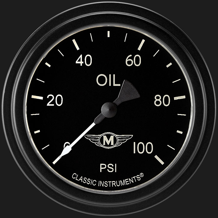 """Picture of Moal Bomber 2 5/8"""" Fuel Pressure Gauge, 100 psi"""