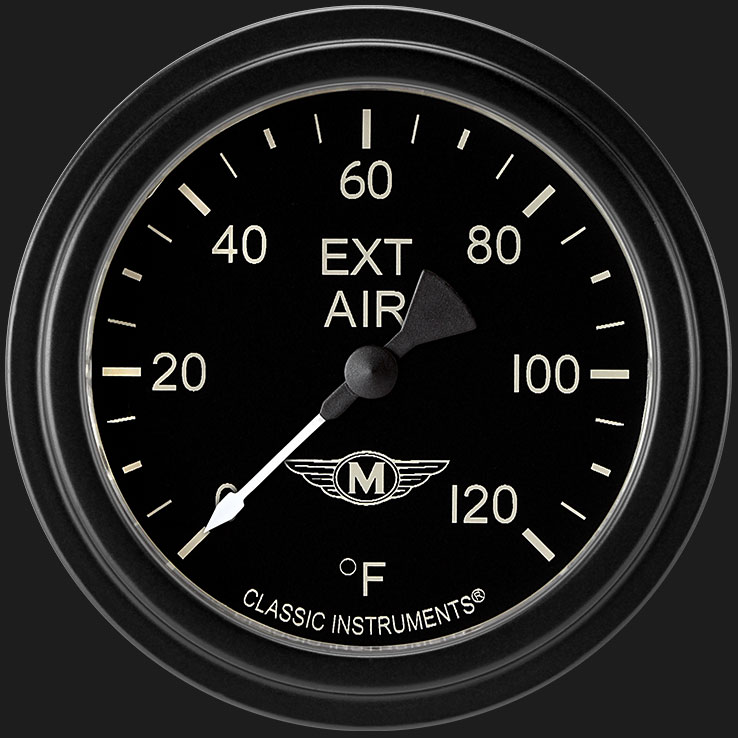 """Picture of Moal Bomber 2 5/8"""" Outside Air Temp Gauge"""