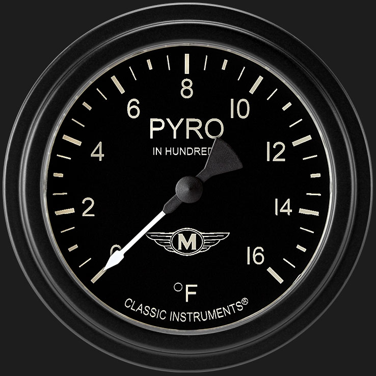 """Picture of Moal Bomber 2 5/8"""" Exhaust Gas Temp. Gauge"""
