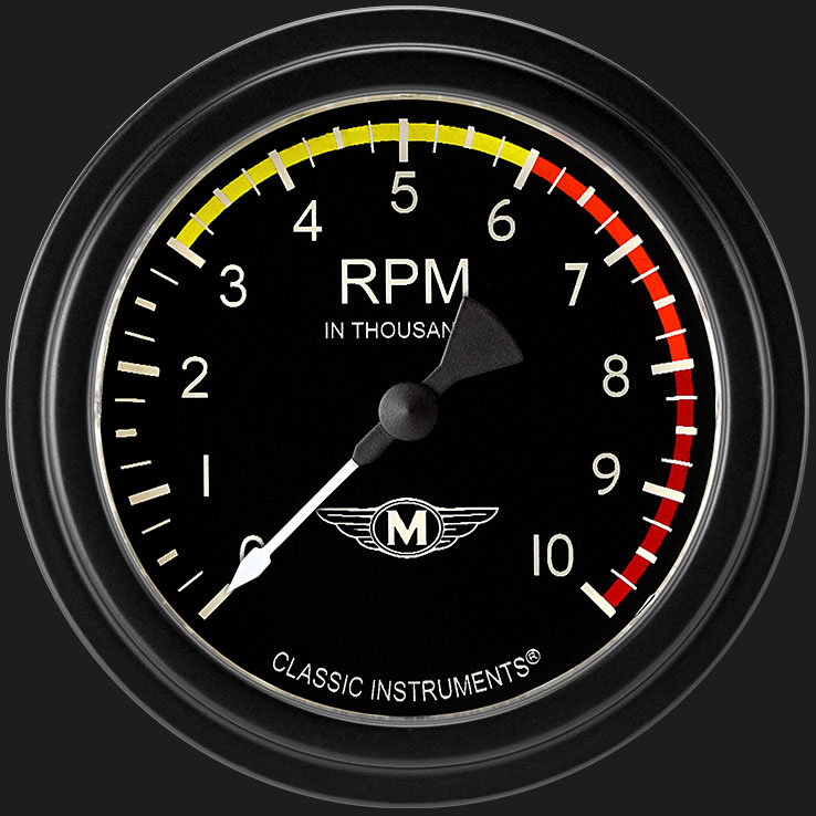 """Picture of Moal Bomber 2 5/8"""" Tachometer"""