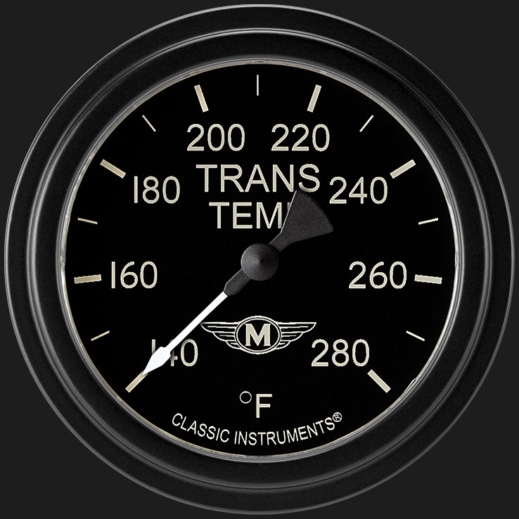 """Picture of Moal Bomber 2 5/8"""" Transmission Temperature Gauge"""