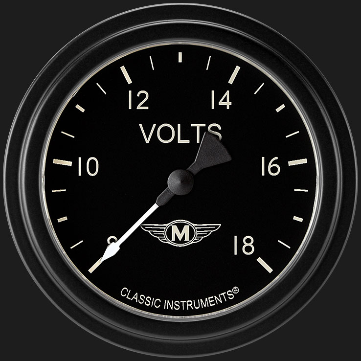 """Picture of Moal Bomber 2 5/8"""" Voltage Gauge"""