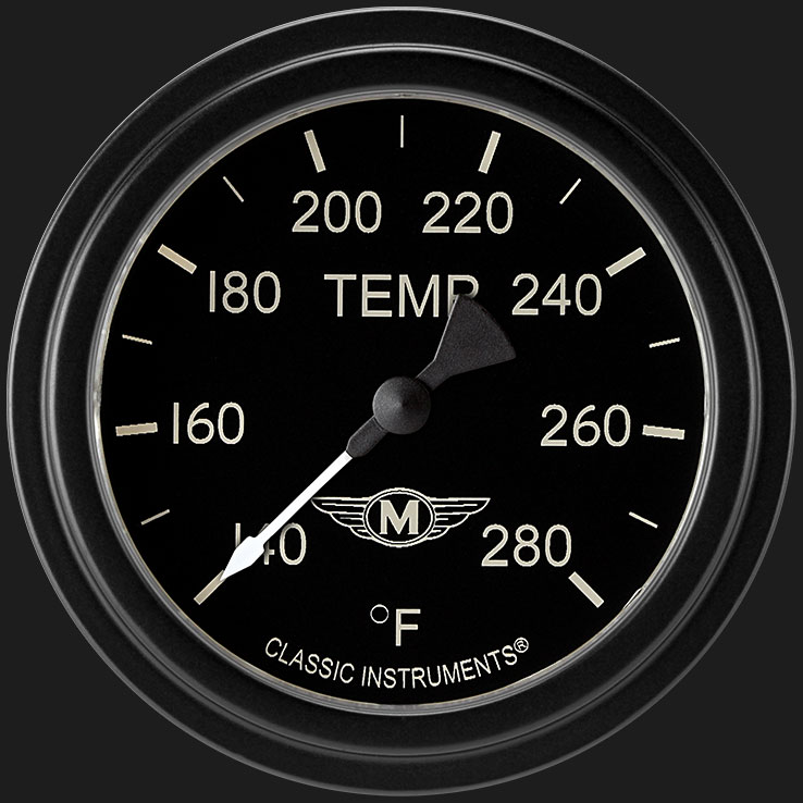"""Picture of Moal Bomber 2 5/8"""" Water Temperature Gauge"""