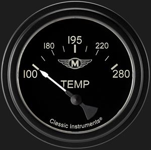 """Picture of Moal Bomber 2 5/8"""" Water Temp Gauge"""