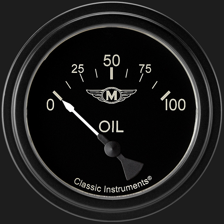 "Picture of Moal Bomber 2 5/8"" Oil Pressure Gauge"