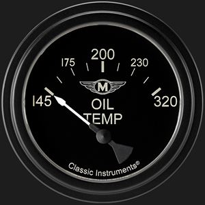 """Picture of Moal Bomber 2 5/8"""" Oil Temperature Gauge"""