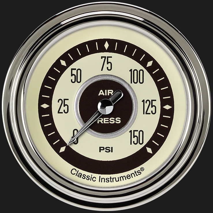 "Picture of Nostalgia VT 2 5/8"" Air Pressure Gauge"