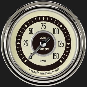 """Picture of Nostalgia VT 2 5/8"""" Air Pressure Gauge"""