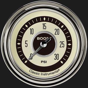 "Picture of Nostalgia VT 2 5/8"" Boost Gauge, 30 psi"