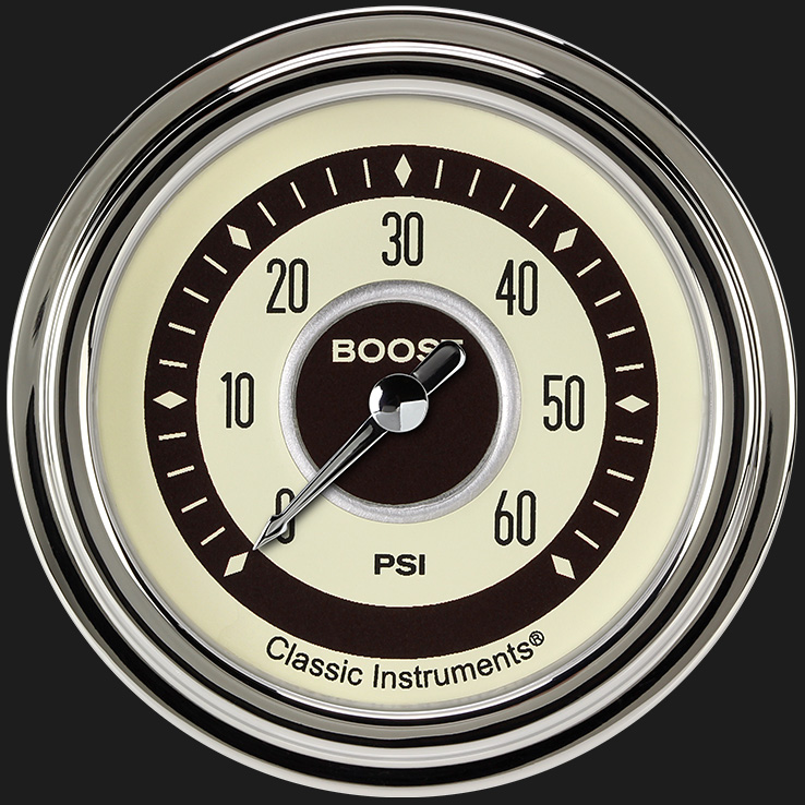 "Picture of Nostalgia VT 2 5/8"" Boost Gauge, 60 psi"