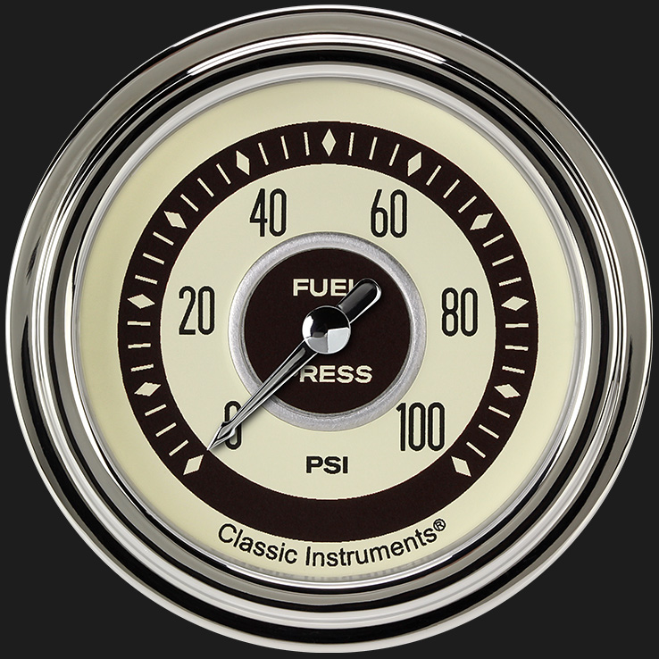 "Picture of Nostalgia VT 2 5/8"" Fuel Pressure Gauge, 100 psi"