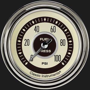 """Picture of Nostalgia VT 2 5/8"""" Fuel Pressure Gauge, 100 psi"""