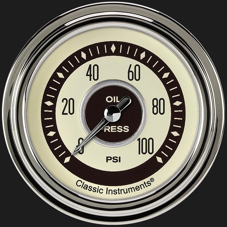 """Picture of Nostalgia VT 2 5/8"""" Oil Pressure Gauge"""
