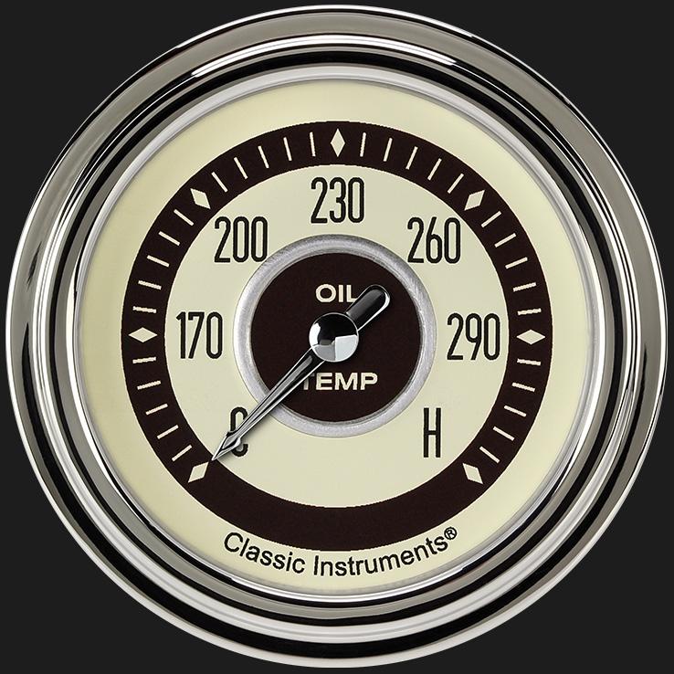 """Picture of Nostalgia VT 2 5/8"""" Oil Temperature Gauge"""