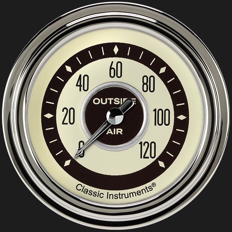 """Picture of Nostalgia VT 2 5/8"""" Outside Air Temp Gauge"""