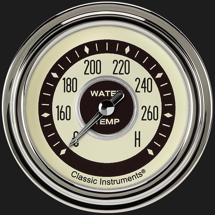 """Picture of Nostalgia VT 2 5/8"""" Water Temperature Gauge"""