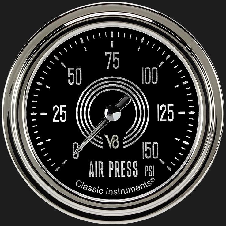 """Picture of V8 Speedster 2 5/8"""" Air Pressure Gauge"""