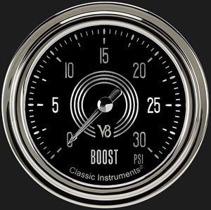 """Picture of V8 Speedster 2 5/8"""" Boost Gauge, 30 psi"""