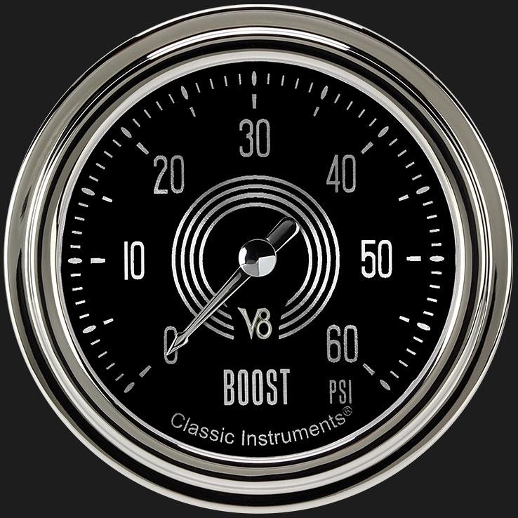 """Picture of V8 Speedster 2 5/8"""" Boost Gauge, 60 psi"""
