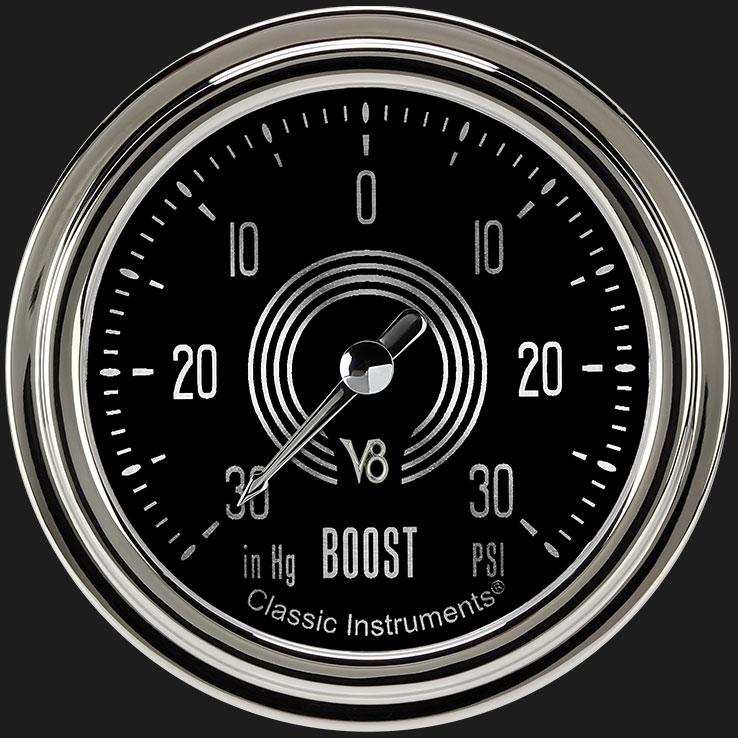 """Picture of V8 Speedster 2 5/8"""" Boost/Vac Gauge"""
