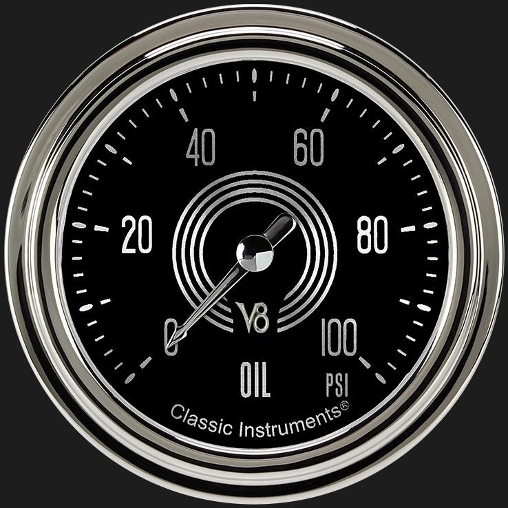 """Picture of V8 Speedster 2 5/8"""" Oil Pressure Gauge"""