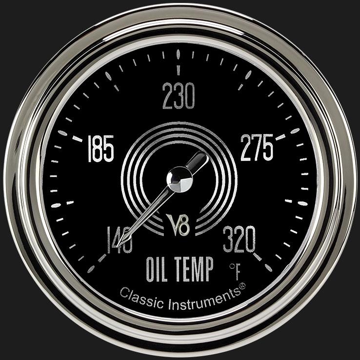 """Picture of V8 Speedster 2 5/8"""" Oil Temperature Gauge"""