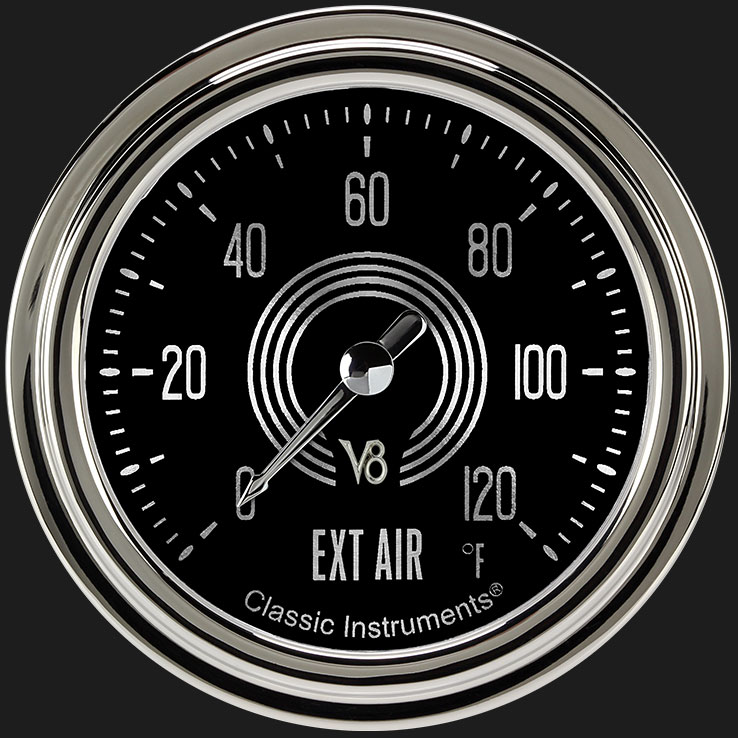 "Picture of V8 Speedster 2 5/8"" Outside Air Temp Gauge"