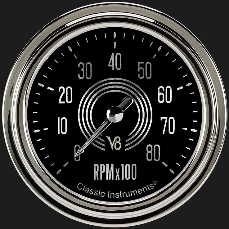 """Picture of V8 Speedster 2 5/8"""" Tachometer"""