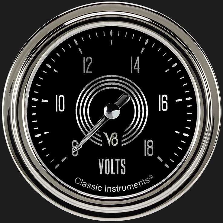 """Picture of V8 Speedster 2 5/8"""" Voltage Gauge"""