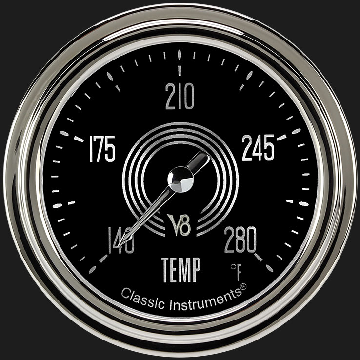 "Picture of V8 Speedster 2 5/8"" Water Temperature Gauge"