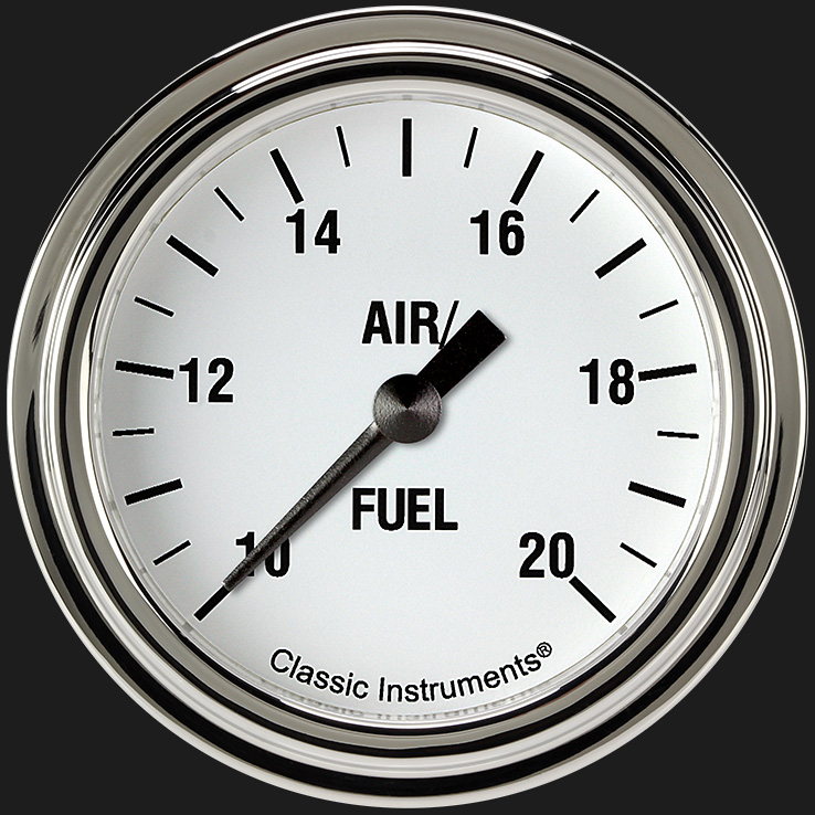 """Picture of White Hot 2 5/8"""" Air Fuel Ratio Gauge"""