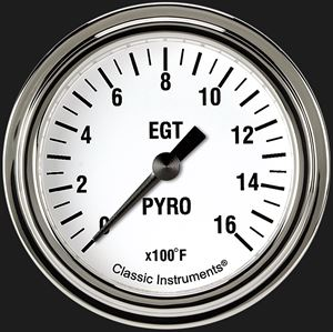 """Picture of White Hot 2 5/8"""" Exhaust Gas Temp. Gauge"""