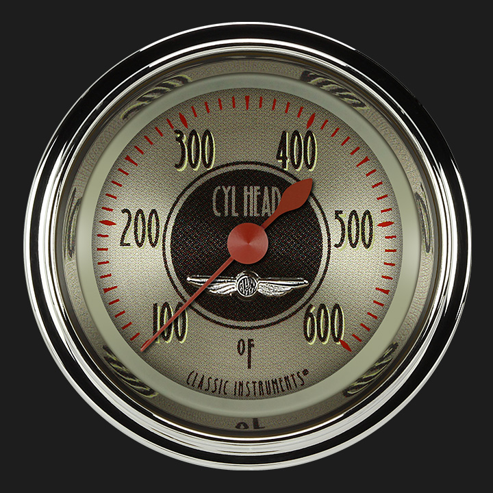 """Picture of All American Nickel 2 1/8"""" Cylinder Head Temp. Gauge"""