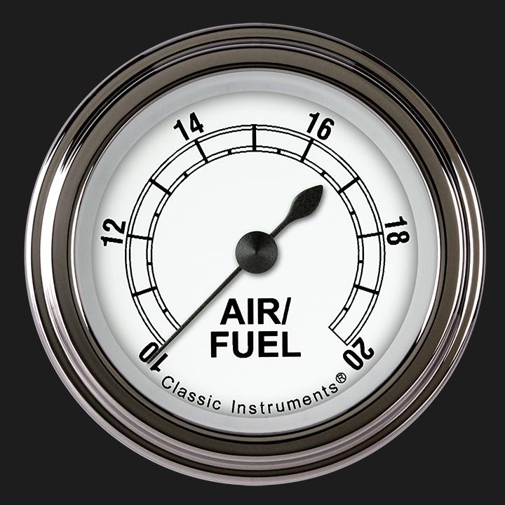 "Picture of Classic White 2 1/8"" Air Fuel Ratio Gauge"