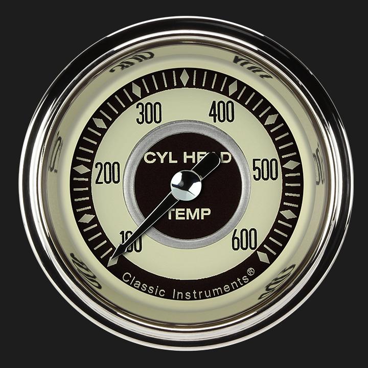 """Picture of Nostalgia VT 2 1/8"""" Cylinder Head Temp. Gauge"""