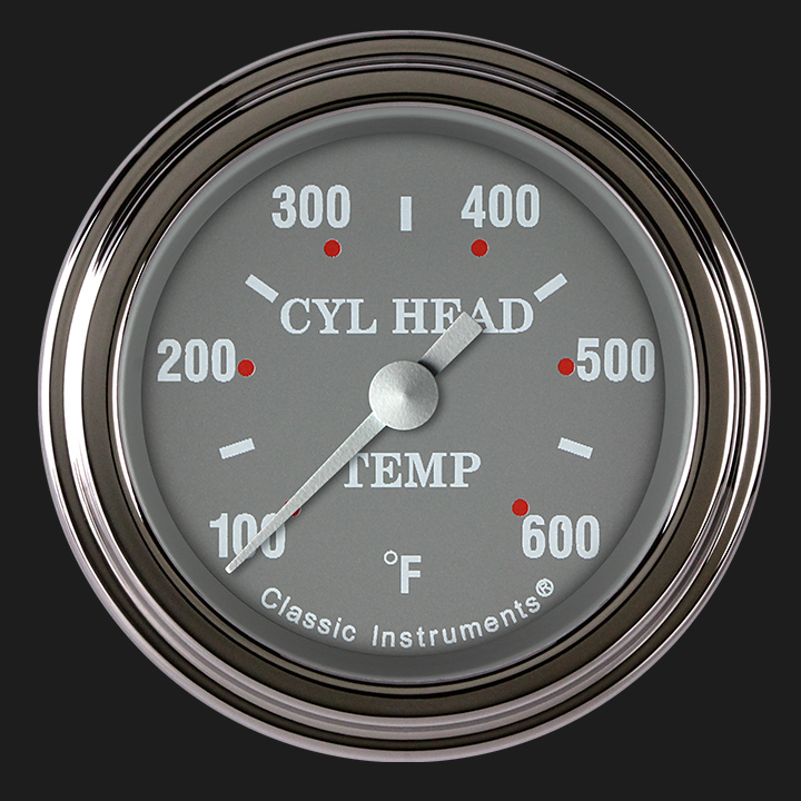 """Picture of Silver Gray 2 1/8"""" Cylinder Head Temp. Gauge"""