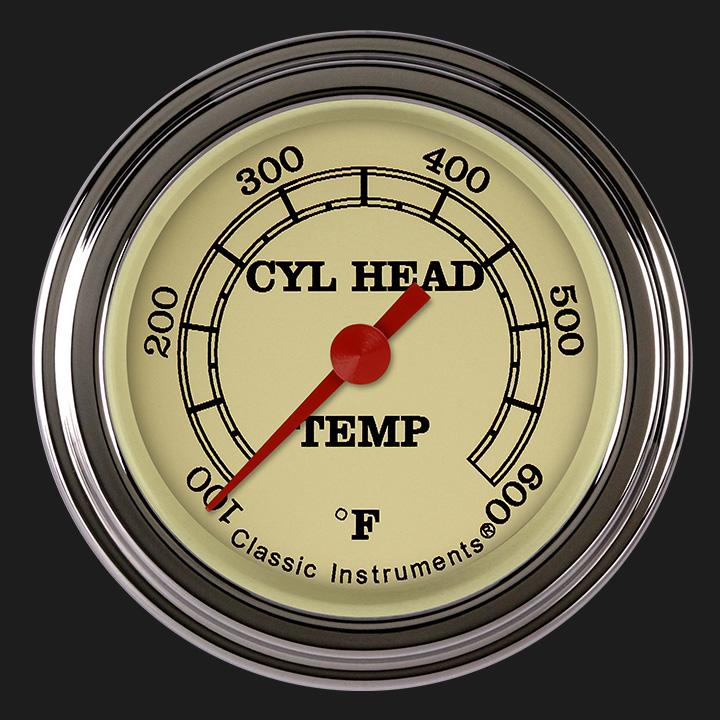 "Picture of Vintage 2 1/8"" Cylinder Head Temp. Gauge"