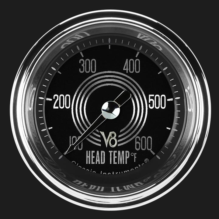 """Picture of V8 Speedster 2 1/8"""" Cylinder Head Temp. Gauge"""